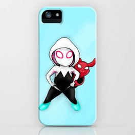 Spider-Gwen and Spider-Ham iPhone Case