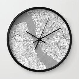 Liverpool Map Line Wall Clock