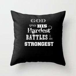Battles Throw Pillow