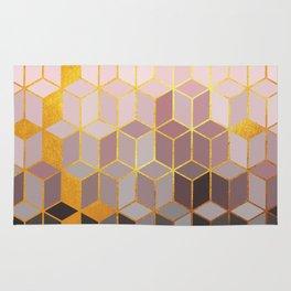 Hidden Gold Cubes Rug