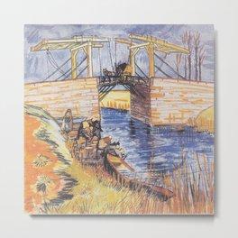 Vincent van Gogh - The Bridge of Langlois at Arles (1888) Metal Print