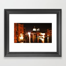 Morning traffic in Venice Framed Art Print