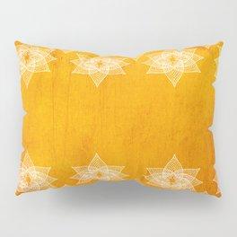 Orange Stars Pillow Sham
