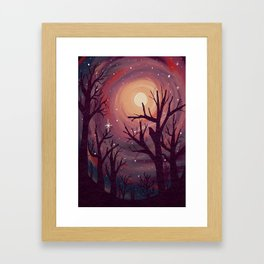 Pinky Night Under The Stars Framed Art Print