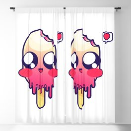 A Cute Kawaii Baby Popsicle Illustration Blackout Curtain