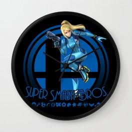 Zero Suit Samus - Super Smash Bros. Wall Clock