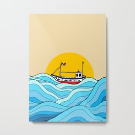 The little fishing boat Metal Print