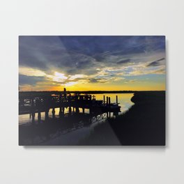 Sun Down, Tide Down Metal Print