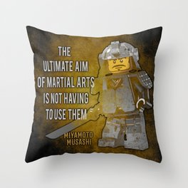 Samurai Musashi Martial Arts quote Throw Pillow