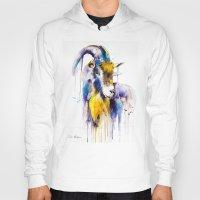 goat Hoodies featuring Goat  by Slaveika Aladjova
