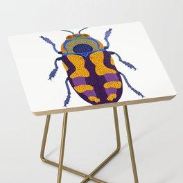Purple and Blue Beetle Side Table