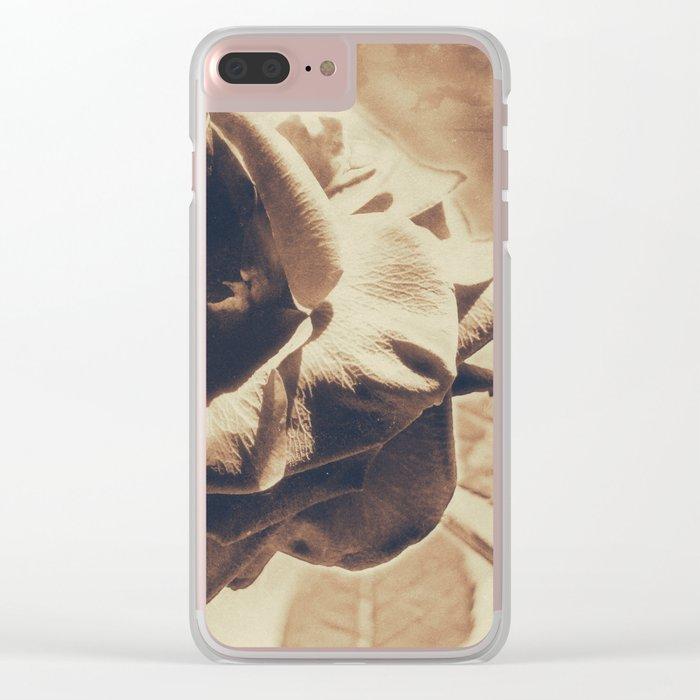 Vintage dreams, rose Clear iPhone Case