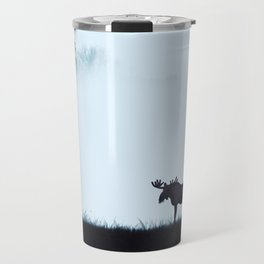 The moose - minimalist landscape Travel Mug