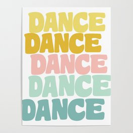 Dance in Candy Pastel Lettering Poster