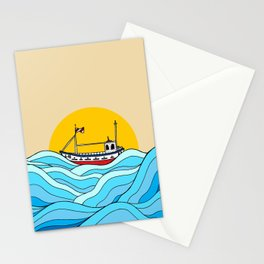 The little fishing boat Stationery Cards
