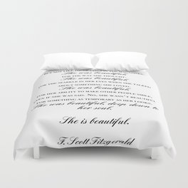 she was beautiful Duvet Cover