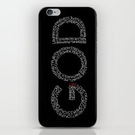 Typography: God iPhone Skin