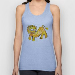 Lion illustration for kids Unisex Tank Top