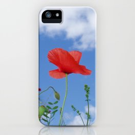 Red white and blue iPhone Case