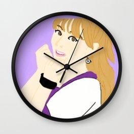 Knock Knock! Jihyo Purple Wall Clock