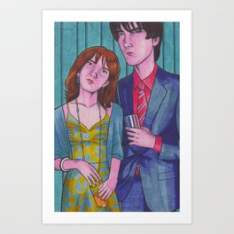 Party Hard (Neville and Hermione) Art Print