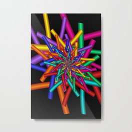 turn around with colors -44- Metal Print