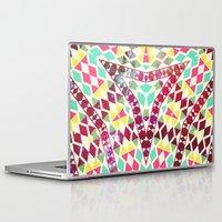 bible verse Laptop & iPad Skins featuring Neon Bible by Kerim Cem Oktay