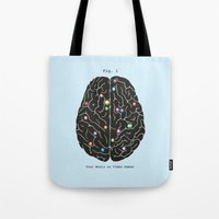 video games Tote Bags featuring Your Brain On Video Games by Terry Fan