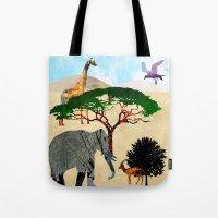 safari Tote Bags featuring Safari by Design4u Studio