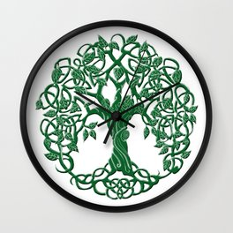 Tree of life green Wall Clock