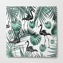 Tropical Flamingo Pattern #6 #tropical #decor #art #society6 Metal Print