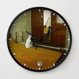le bébé moustachu - 7 Wall Clock