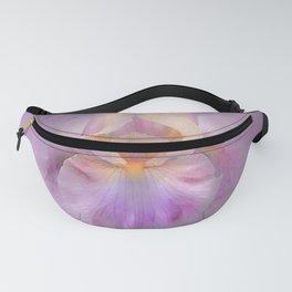 Rainbow Iris on Textured Purple Mauve Background Fanny Pack