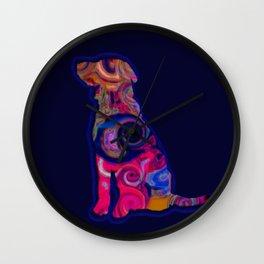 Psychedelic Dog Wall Clock