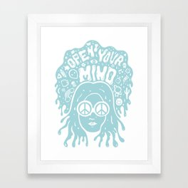 Open Your Mind in Mint Framed Art Print
