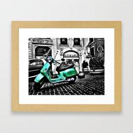 Roma Vespa Framed Art Print
