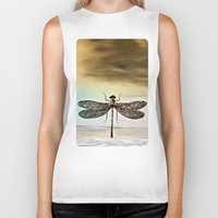 dragonfly Biker Tanks featuring DRAGONFLY  by Pia Schneider