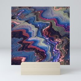 Abstract Voxel Landscape 11 Mini Art Print