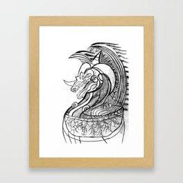 Dragon in pot Framed Art Print