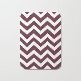 Light chocolate cosmos - purple color -  Zigzag Chevron Pattern Bath Mat
