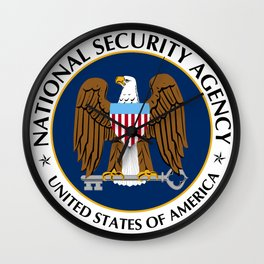 National Security Agency Crest Wall Clock