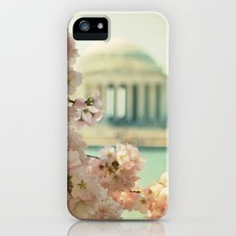 DC Cherry Blossoms iPhone Case