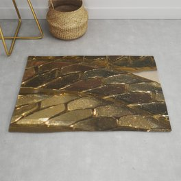 gold? chain Rug