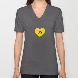 Javascript - js heart Unisex V-Neck