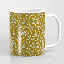 Retro Bathers in Antique Gold Coffee Mug