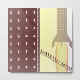 Get on Board Metal Print
