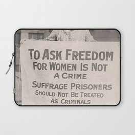 Freedom For Women Is Not A Crime Laptop Sleeve