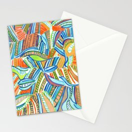 Bent and Straight Ladders Pattern Stationery Cards