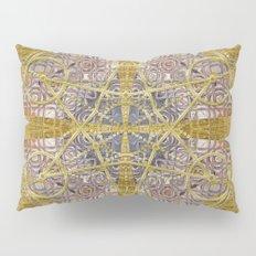 Golden Steampunk Geometry Star Pillow Sham