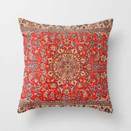 Soft Effects Oriental Rug Glamping She-Shed Elegant Boho Throw Pillow